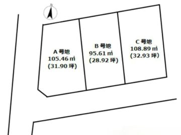 販売開始!高槻市プレシアタウン昭和台 建築条件付土地(全3区画)